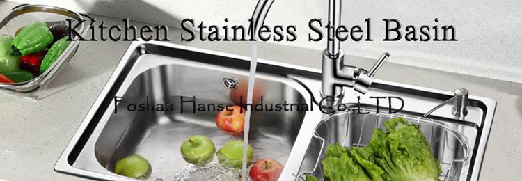 K esr12050 kitchen bowl sink stainless steel guangzhou for Wastafel kitchen set