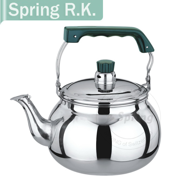 Silicone Green handle stainless steel 201 unique tea kettles