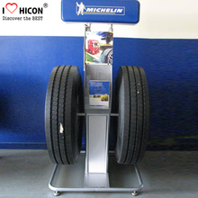 Custom Auto Car Spare Parts Showroom Design Heavy Duty Free Standing Wheel Rim And Tire Display Rack