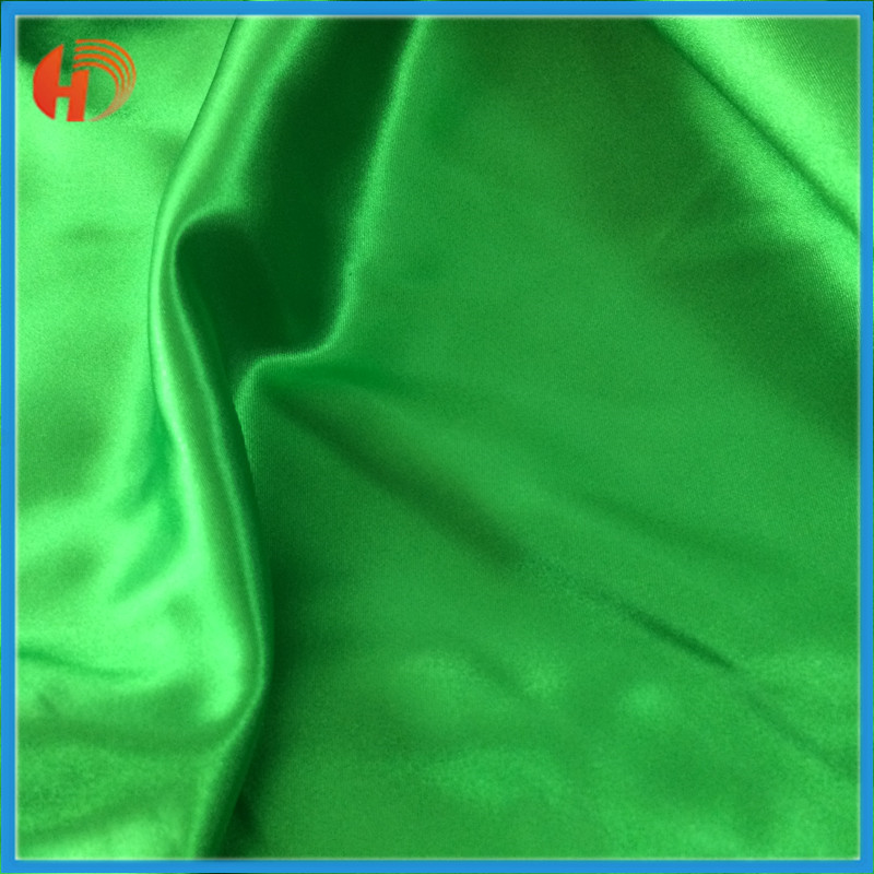 Anti-wrinkle 100% polyester bright satin fabric for curtain