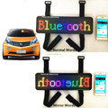P4.75-16x64RGB Nylon Straps Fixation on 12V Car Sunvisor Mirror Words Bluetooth LED Car display