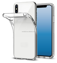 Exactly Fit Transparent Clear Glossy Gel Soft TPU Protective Case Cover for iPhone X