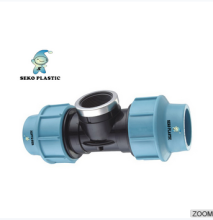 pp compression fittings tee female,plastic fittings for pipes ,irrigation fittings cheap price