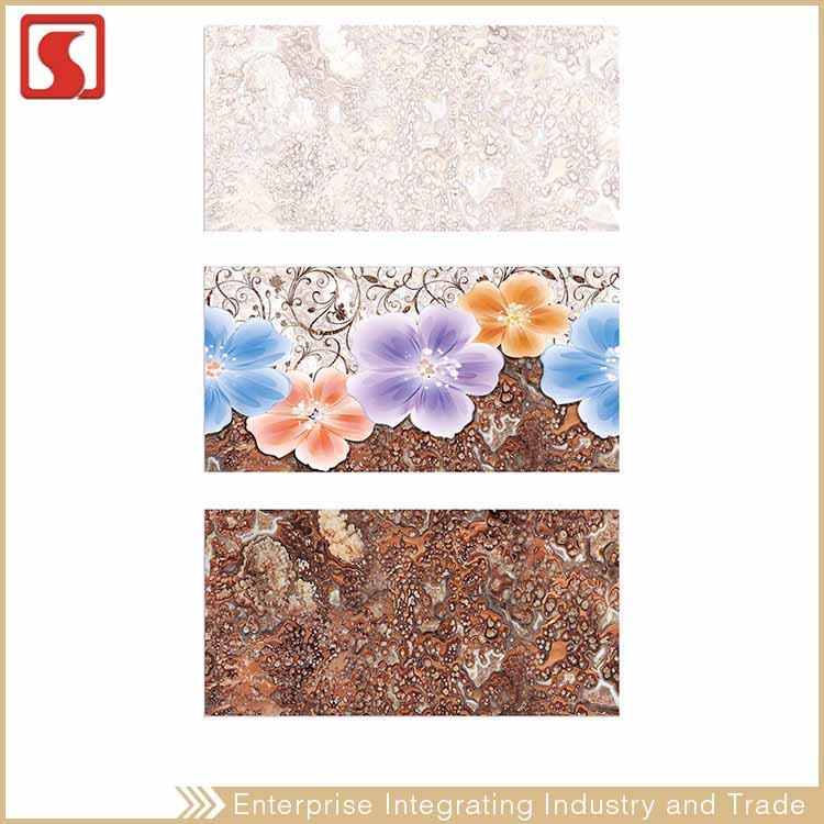 China 300X600Mm New 3D Nice Design Ceramic Tile On Wall Of Bathroom