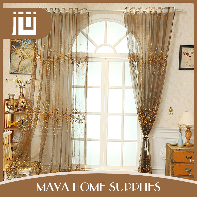 Fashion colorful luxury household kitchen curtain made in turkey