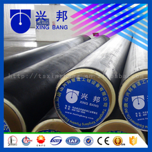 Building materials insulated tube with pur foam filled and hdpe sleeve for hot water pipeline construction