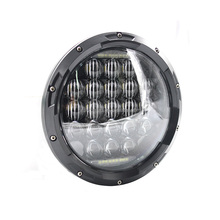"7"" Daymaker Headlight - 5D 126W Round Motorcycle High Low Beam Projector LED DRL Headlamp For Harley Jeep Wrangler"