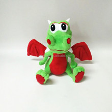 Wholesale plush animal toy flying dragon with red wings/High quality stuffed animal/Plush toy