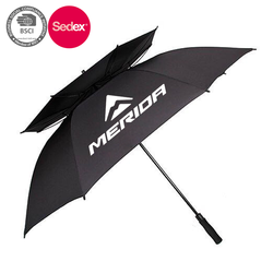 China umbrella factory printing custom logo promotional windproof golf umbrella