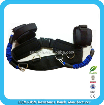 LTA-1117 High quality!!Athletics leg training resistance bands with big waist belt OEM