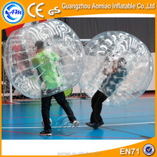 Crazy clear glass bubble ball bounce ball, human inflatable bumper bubble ball