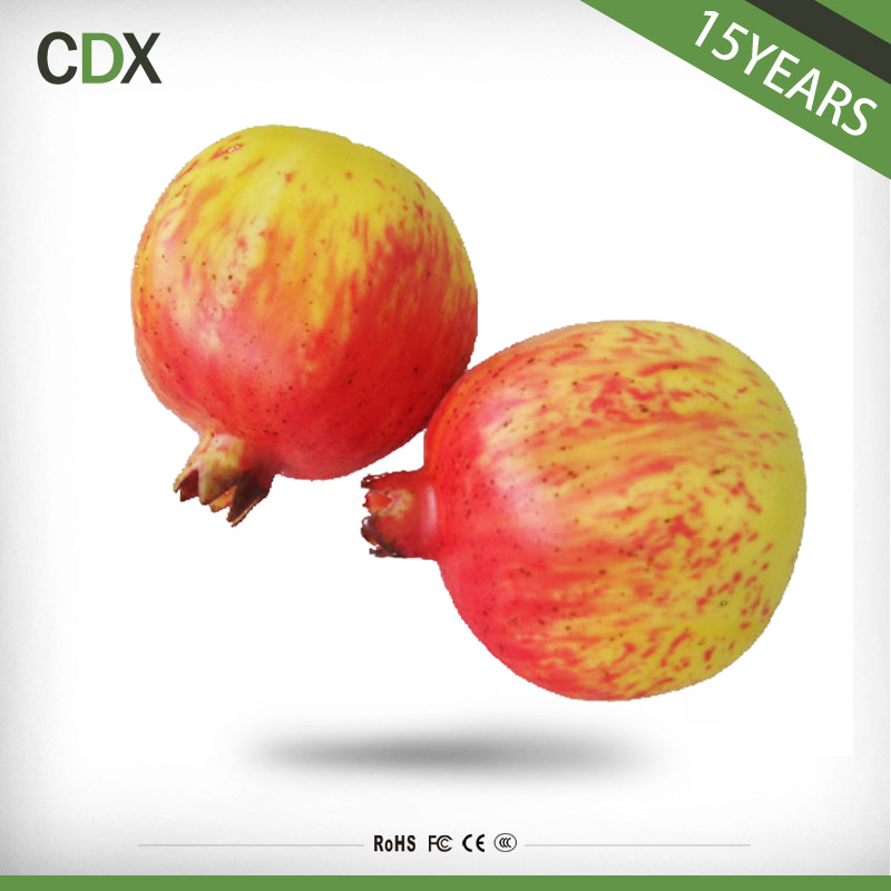 Wholesale fake pomegranate polyfoam artificial fruit for home decoration