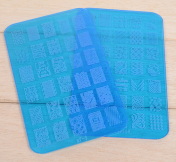2016 newest transparent acrylic image plate for nail art stamping