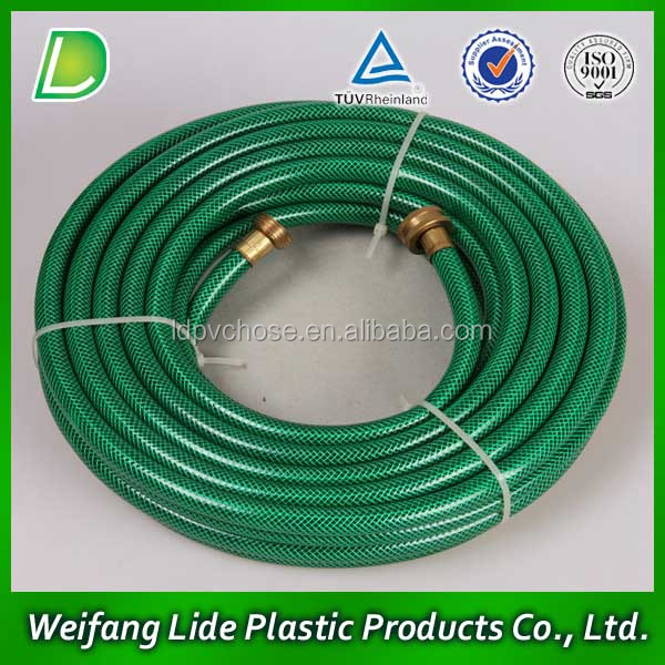 Different colors high pressure PVC 3 layers garden water hose pipe