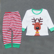 wholesale fashion cotton stripped childrens pajamas with long sleeve