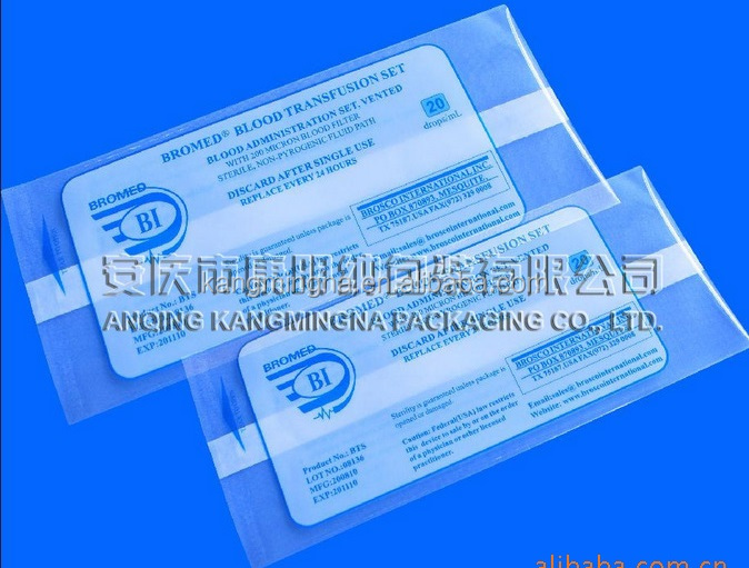 Medical PE plastic pouch,infusion set packing