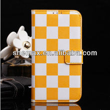 Plaid Premium PU Leather Folio Flip Case /cover/Holster for samsung galaxy s4 i9500