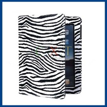 Zebra Stripe Design PU Protective Case with Stand Function for the New iPad