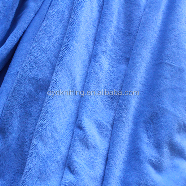100% <strong>Polyester</strong> 2.5mm Super Soft Brushed Velboa Fabric for Toy/Mattress/Pillow