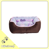 Purple Heart-shaped Pet Bed made in jiaxing haining of China