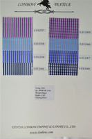 Yarn dyed cotton nylon spandex stripe and checks shirt fabrics, stock service, silky touch