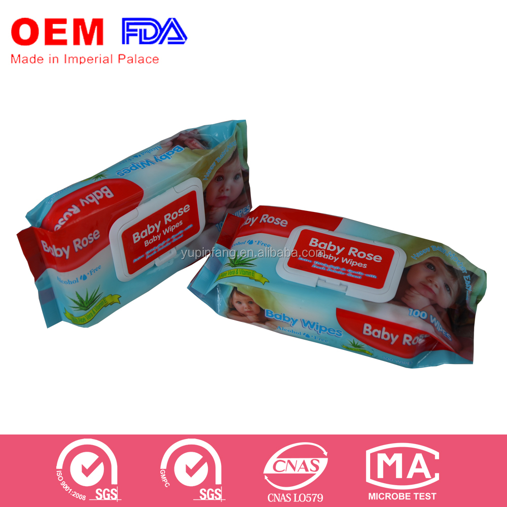 Special price OEM 100 Sheets baby wipes offered for African market