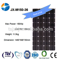 Best quality monocrystalline 150 watt solar panel 150w with CE IEC TUV certificate