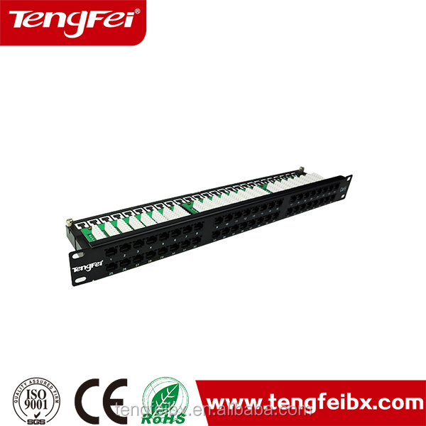 Housing material :copper cable wire 19'' Patch Panel