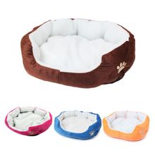 Cute Soft Dog Cat Pet Bed Mini House for Candy Colored Dogs Beds Warm Kennel Puppy Supplies