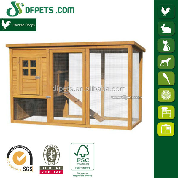 Deluxe Backyard Chicken Coop / Hen House w/ Outdoor Run DFC017