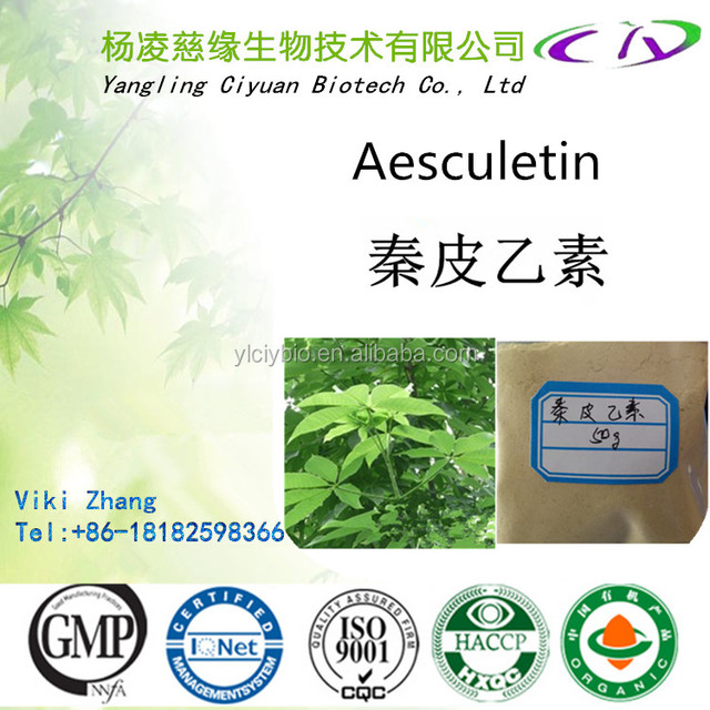100% Natural horse chestnut extract powder 98% aesculetin 305-01-1 esculetin Anti-inflammation