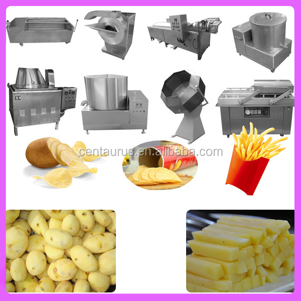 Factory manufacturer frozen french fries fryer production line with best price