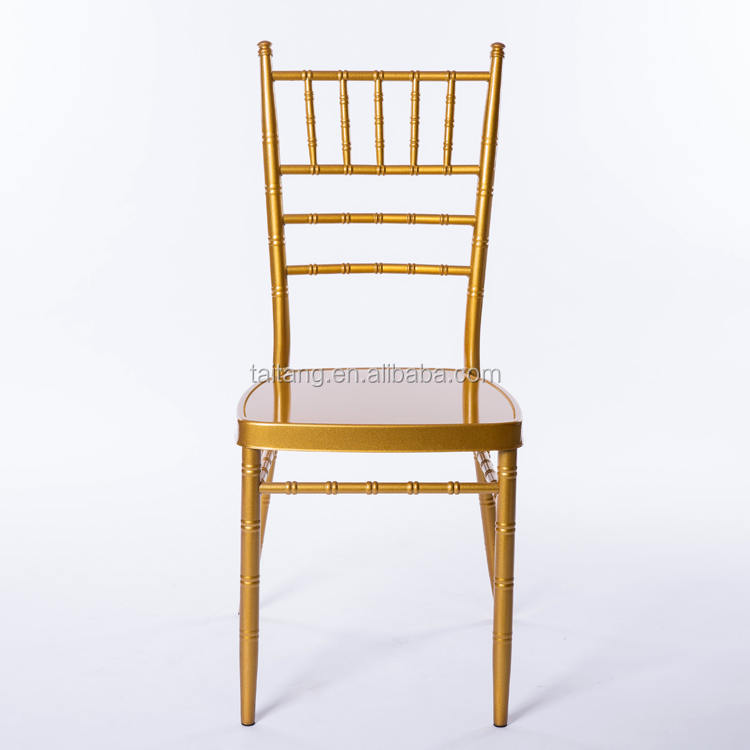 Wholesale Standard Size Metal Chiavari Chair Restaurant Low Price Dining Chai