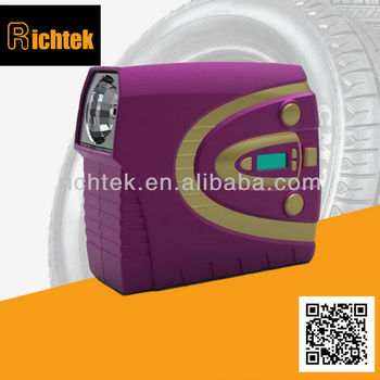 detachable high quality car tyre pump/colorful car tyre pump with digital gauge