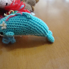 Hand Knit Crochet Christmas Educational Mini Dolphin