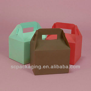 Colorful paper box for cake or ice cream sale packing