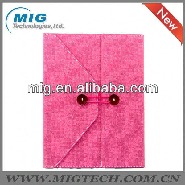 For IPad 2/3/4/5 European Designed Leather Envelope Case for apple ipad, for ipad 5 case with stand