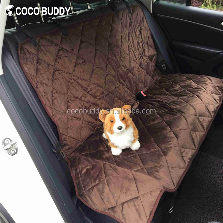 High Quality Soft Waterproof Microsuede Padded Fabric Pets Dog Car Seat Cover