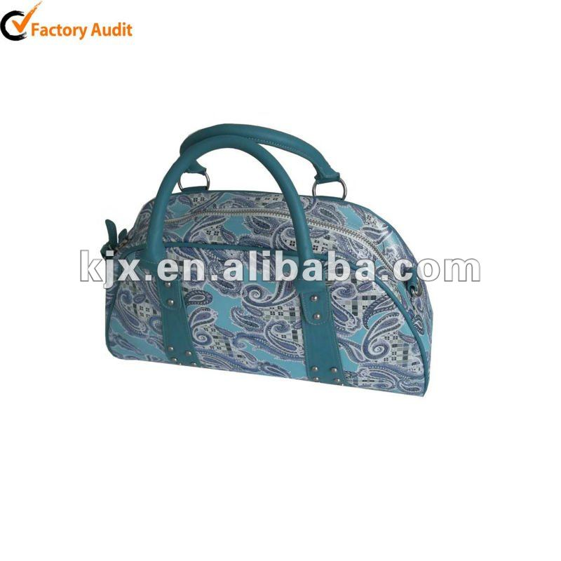 PU handbag with flower printed