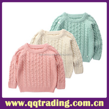Wholesale kids girls long sleeve sweater girls kids fashionable sweaters knit sweater for young girls