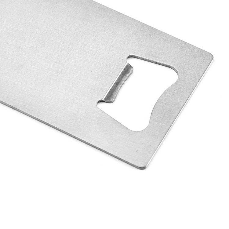 Ready to ship stainless steel cheap metal blank credit card bottle openers