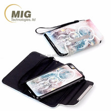 new 2 in 1 separated magnetic self stick leather case For apple iphone 4s Mobile phone case For apple iphone 4
