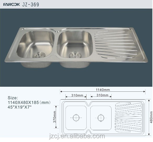 Double bowl single board sink modern kitchen designs sink with accessories kitchen