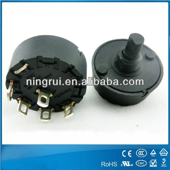 250V T125 4 pole 3 position rotary switches