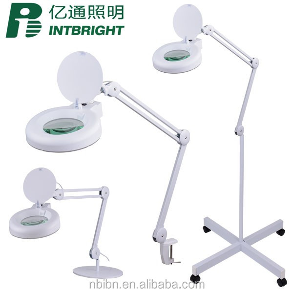 3/5/8 diopter stand led Illuminated magnifiers workbench lamp ESD LED magnifying lamp beauty Lighting magnifying glass lamp