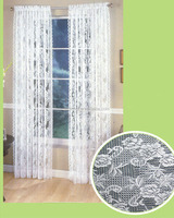 new design 100% polyester lace window curtain