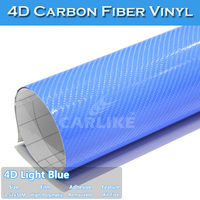 CARLIKE 4D High Glossy Stretchable Carbon Fiber Vinyl Equalizer Car Sticker