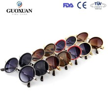 New 2015 Retro Round Coating Sunglasses Women Brand Designer Vintage Sun Glasses Cycling Eyeglasses