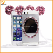 Diamond mirror tpu case for apple iphone SE