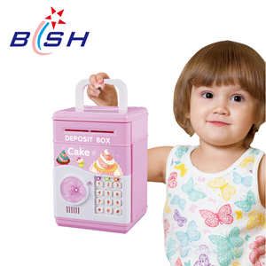 Automatic lock money detect cake safe box for kids with best quality